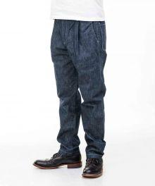 01-092 Going to Battle (GTB) Herringbone Denim Easy Pants