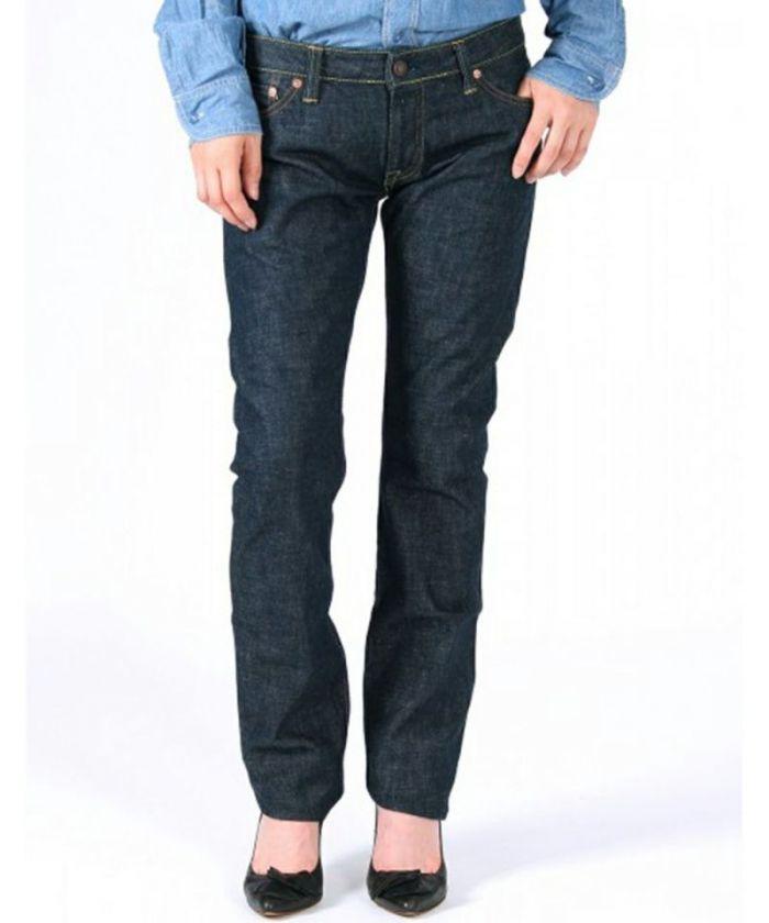 GL007MZ 14.7oz Japan Blue Indigo Women's Tight Straight Jeans