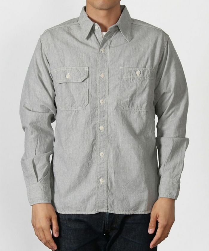 MS033Z 5oz Zimbabwe Cotton Original Selvedge Chambray Work Shirt
