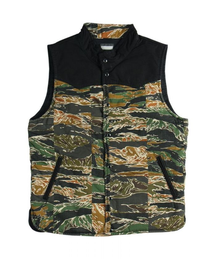 04-022 Patchwork Tiger Camo Padding Vest