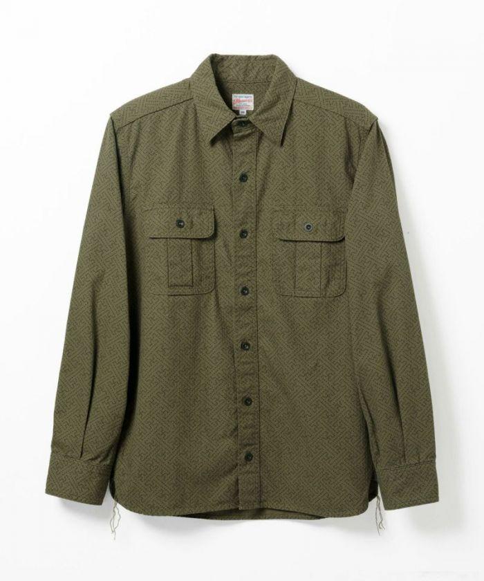 05-216 Print Sashiko Work Shirt