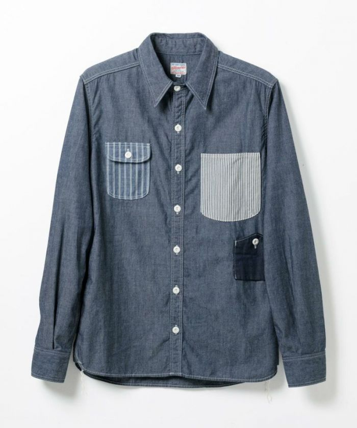 05-159 Indigo Herringbone Work Shirt