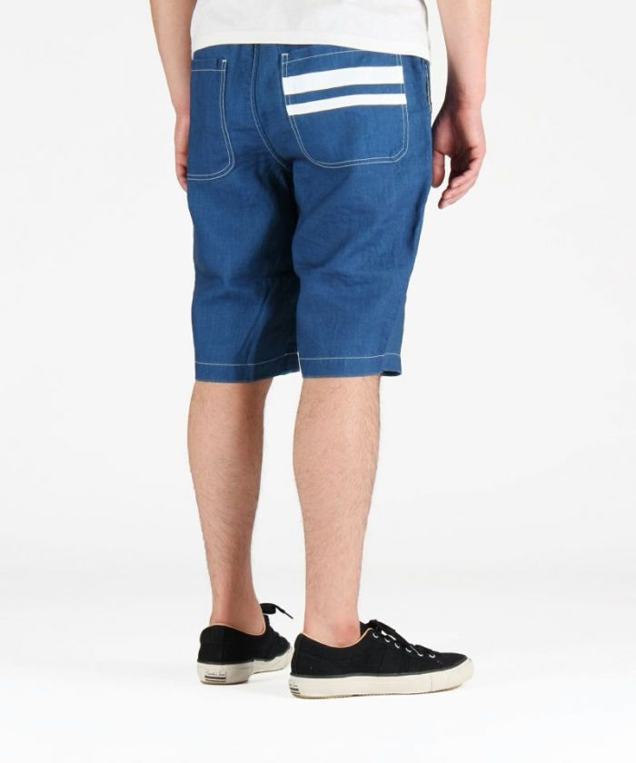 02-059 Going To Battle (GTB) Indigo Linen Easy Shorts