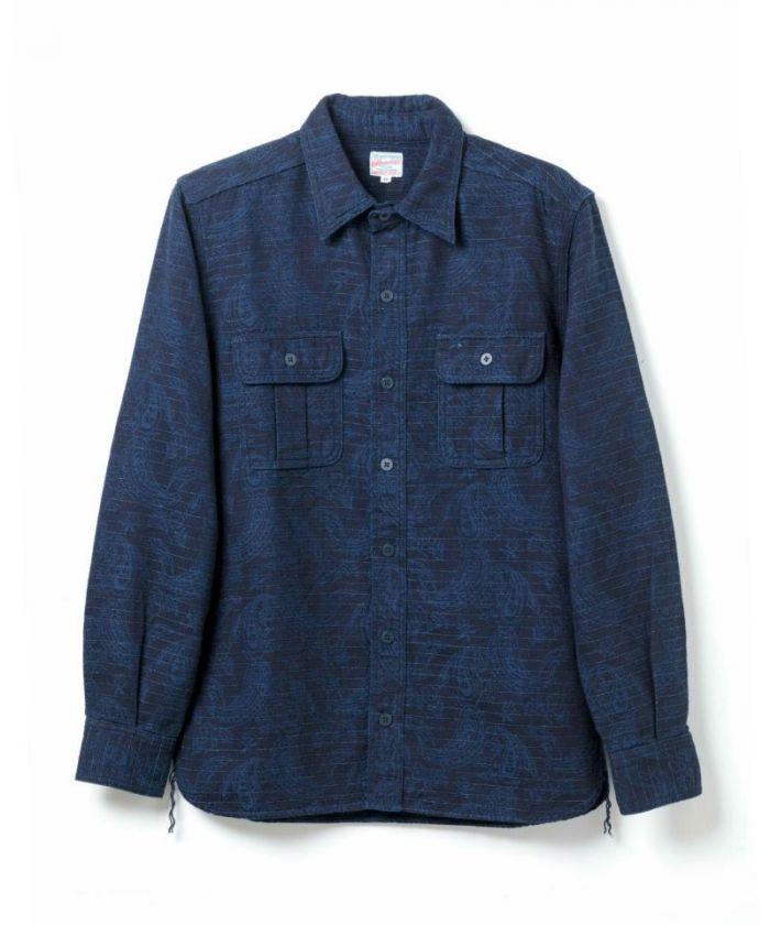 05-233 Indigo Paisley Shirt