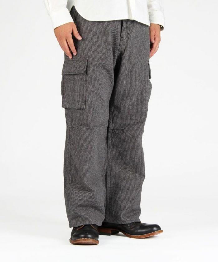 01-068 Twill wide cargo pants
