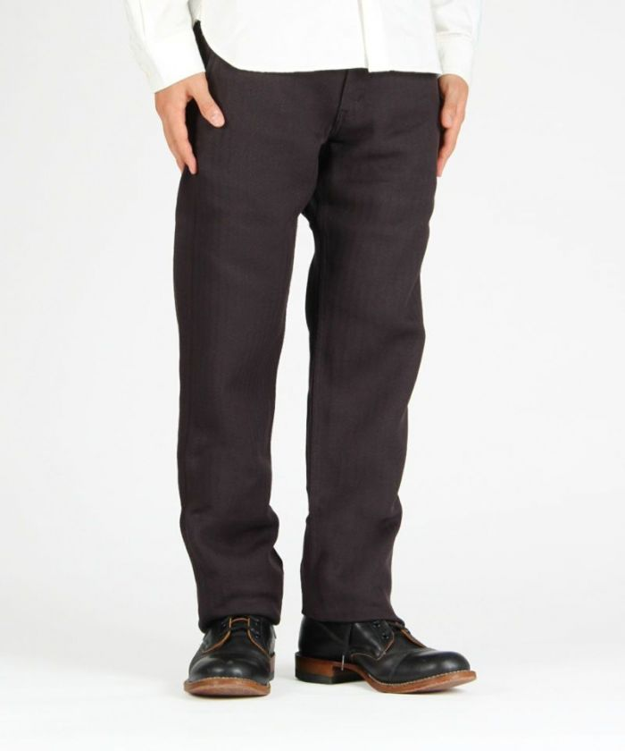 01-073 Twill Herringbone Tight Trousers