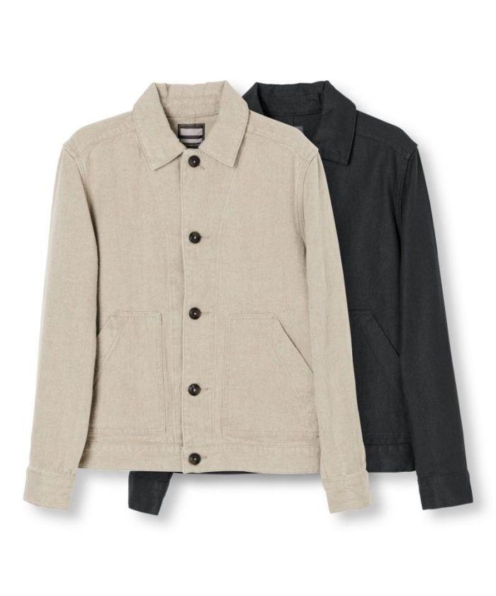 03-147 Linen Work Jacket