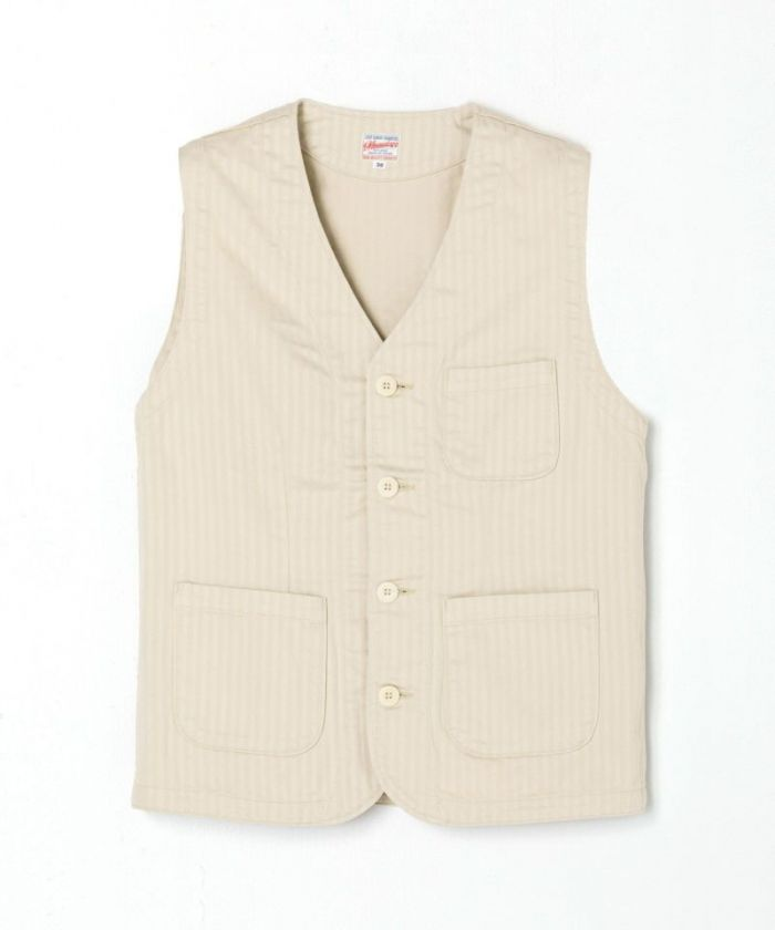 04-049 Supima Cotton Herringbone Vest