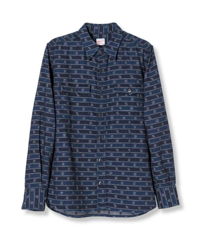 05-261 Indigo Jacquard Shirt