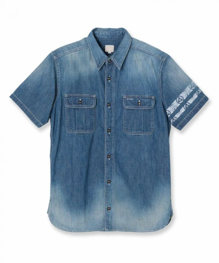 06-085 8oz Denim Short Sleeves Shirt (AW)