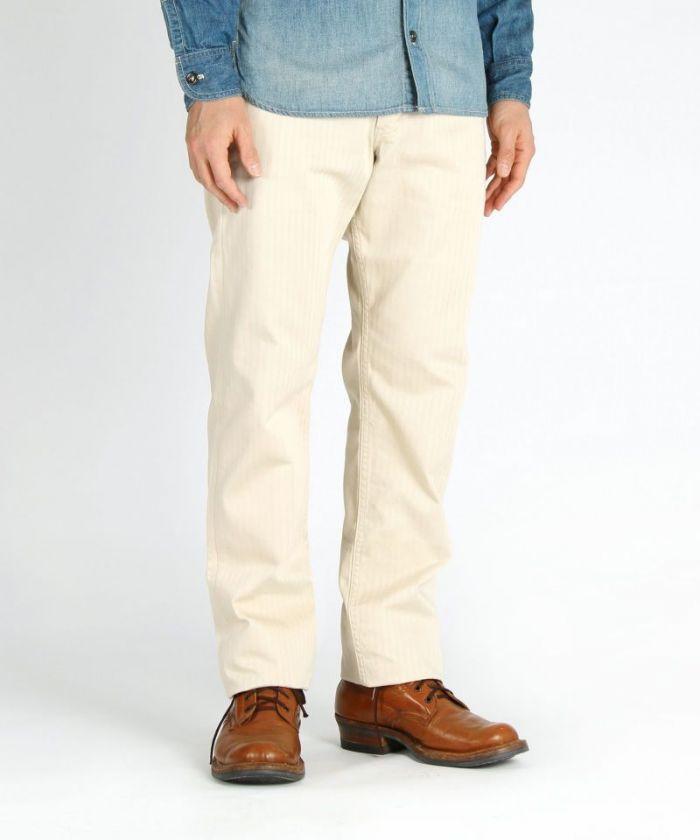 01-075 Supima Cotton Herringbone Trouser