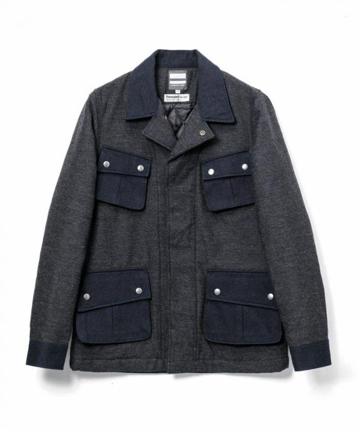 03-156 Cotton Wool Military Jacket