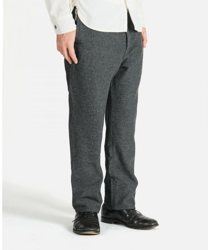 01-084 Twill Herringbone Trousers