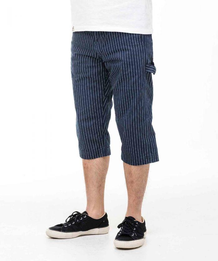 02-069 Stripe Painter Cropped Pants