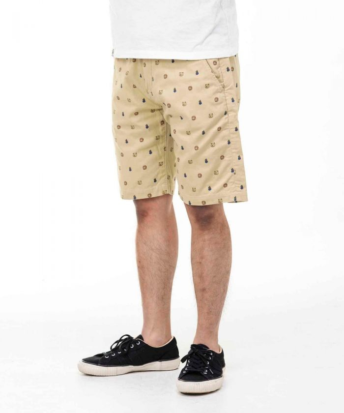 02-071 Momotaro's Follower Print Shorts