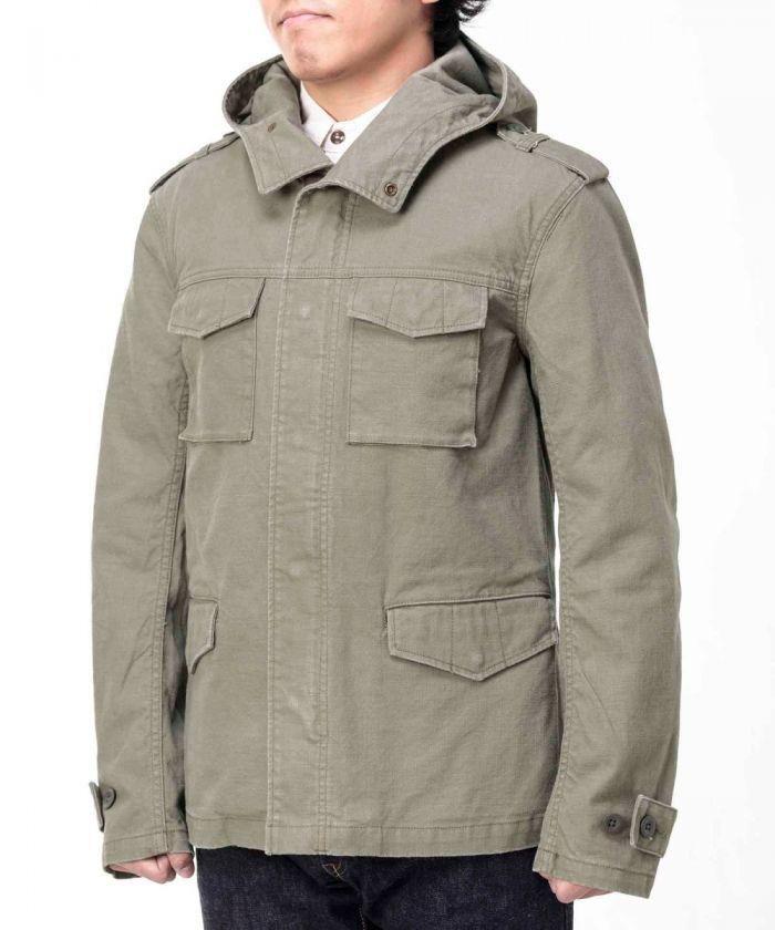 03-168 Uneven Duck Military Jacket