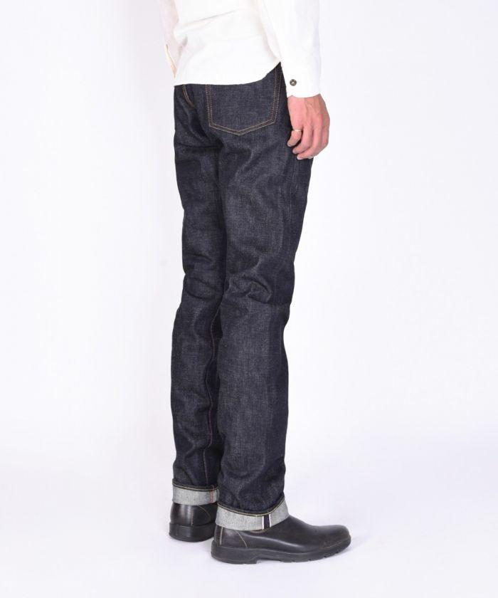 0605-18ID 18oz Selvedge Denim Natural Tapered Jeans
