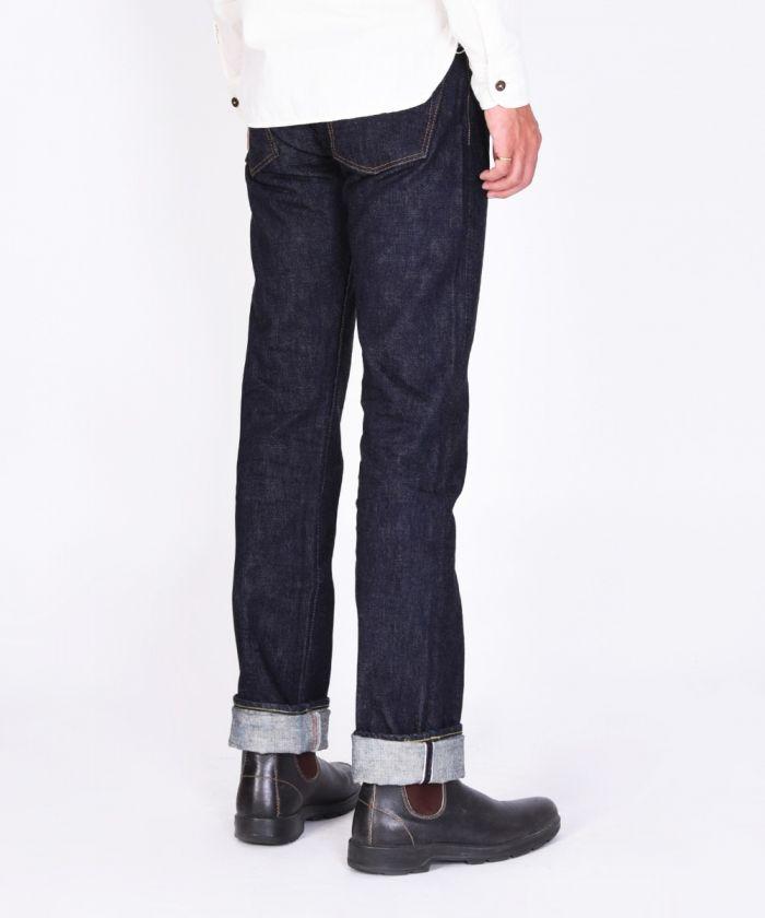 0701K 15.7oz Zimbabwe Cotton Unsanforized Denim Tight Straight Jeans (Button Fly) [size 38-42]