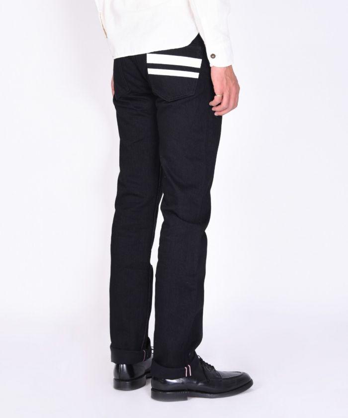 B0705SP 15.7oz Zimbabwe Cotton Black Denim Going to Battle (GTB) Tight Straight Jeans (Button Fly) [size 28-36]