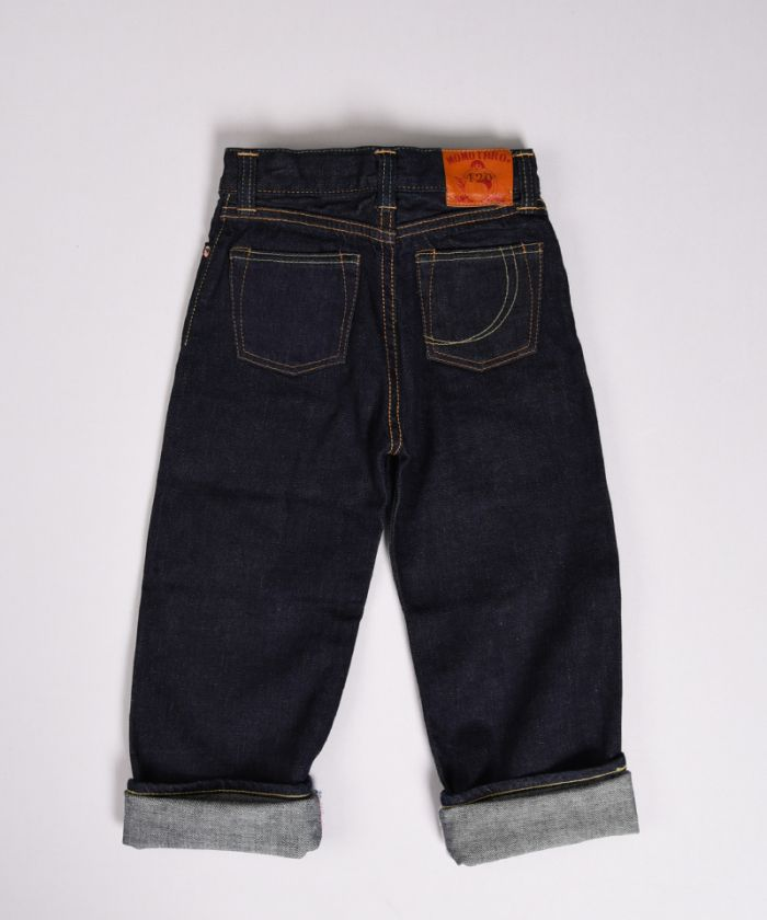 GK003-MZ KIDS JEANS 12oz Copper Selvedge Denim Classic straight