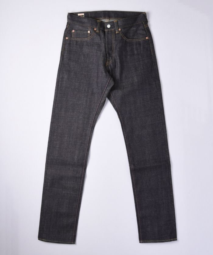 0605-70 13.5oz Zimbabwe Cotton Slubby Selvedge Denim Natural Tapered Jeans
