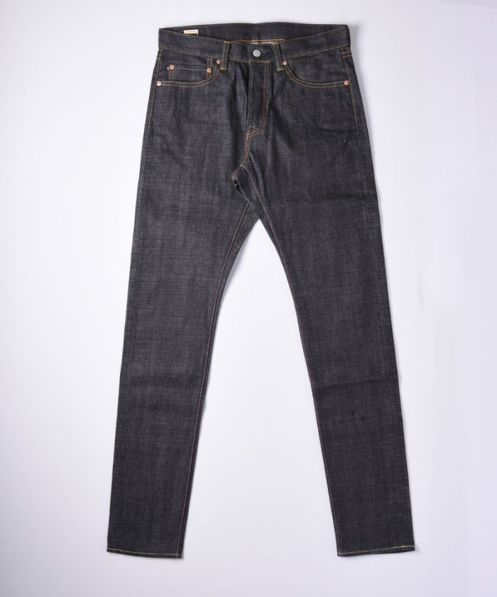 0405-70 13.5oz Zimbabwe Cotton Slubby Selvedge Denim High Tapered Jeans