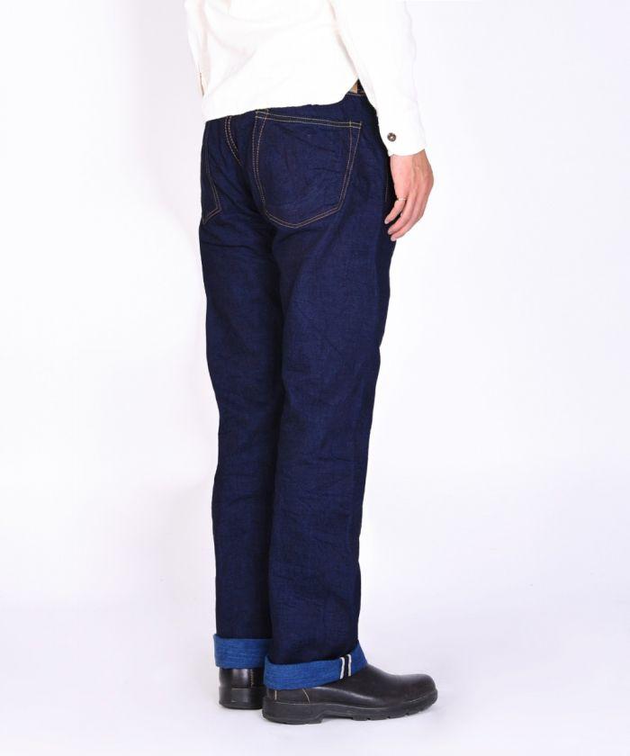 G004-AI 13.5oz INDIGO×NATURAL INDIGO Selvedge Denim Slim Tapered Jeans