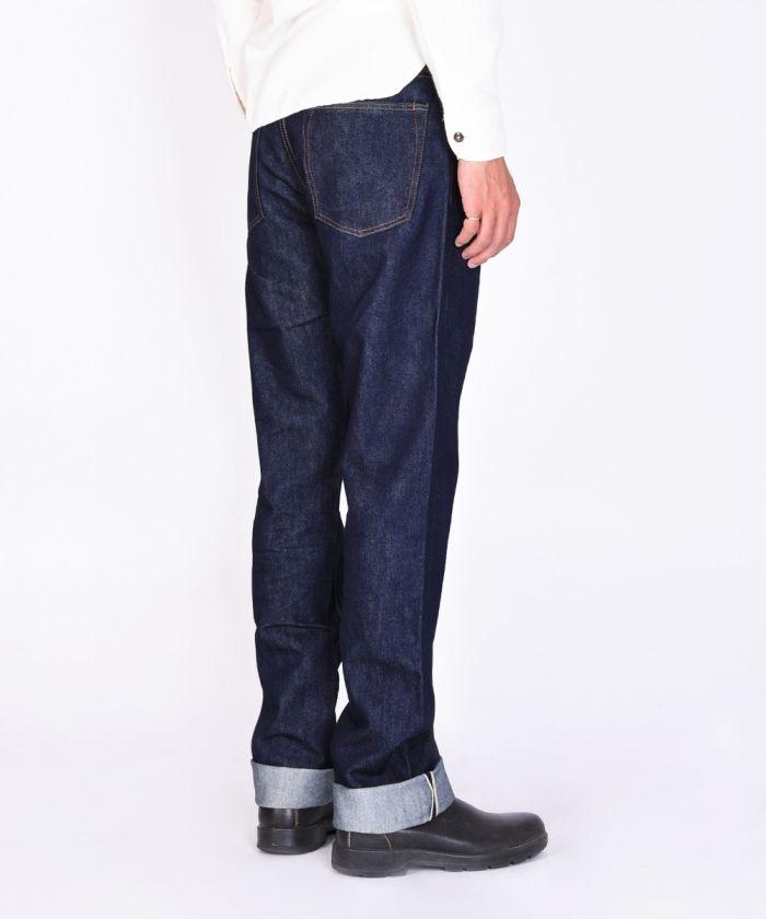 G004-SL 14.5oz INDIGO×SILK Selvedge Denim Slim Tapered Jeans
