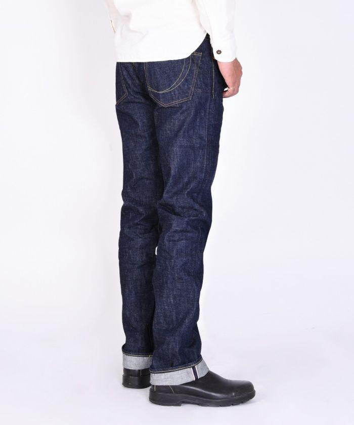 G007-MZK 14.7oz Copper Label Tight Straight Jeans (Zipper Fly) [size 38-42]