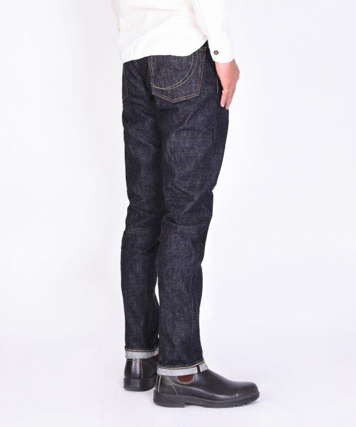 G015-MZ 14.7oz Zimbabwe Cotton Deep Blue Denim Copper Label Narrow Tapered Jeans [size 28-36]