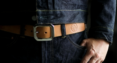 Momotaro Jeans Benz Leather Belt